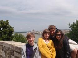 Wizyta na Węgrzech - widok z Góry Zamkowej w Budapeszcie