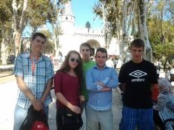 Wizyta w Turcji - przed palacem Topkapi w Istambule