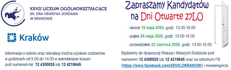 XXVII Liceum Ogólnokształcące im. Henryka Jordana w Krakowie